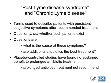 Post Lyme Disease Syndrome Fatigue