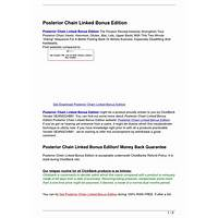 Posterior chain linked bonus edition cheap