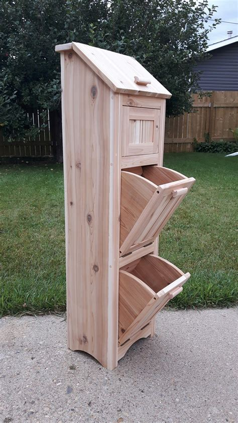 Potato bin woodworking plans Image