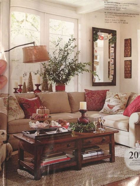 Pottery Barn Living Room Red