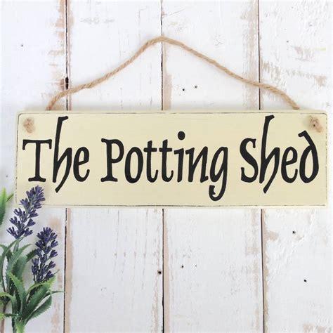 Potting shed designs signs Image