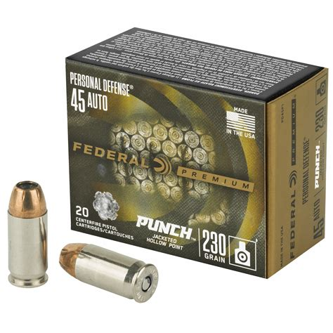 Power Punch Ammo For A 45