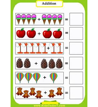 Preschool Addition Worksheet