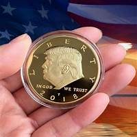President trump commemorative black gold coin guide