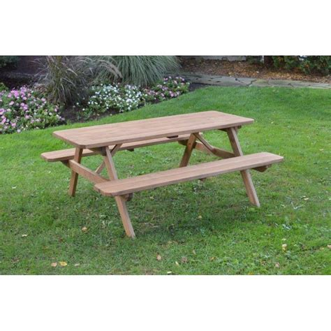 Pressure treated picnic table Image