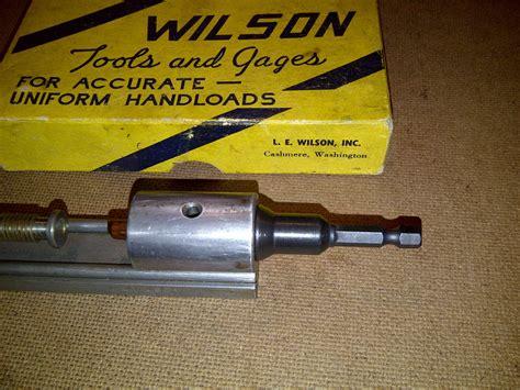 Primer Pocket Reamer Adapter For L E Wilson Reamer Use