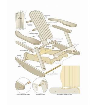 Printable Adirondack Rocking Chair Plans