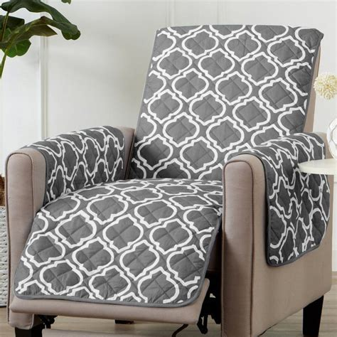 Printed Reversible T-Cushion Slipcover