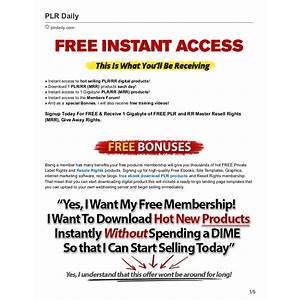 Private label rights and master resell rights products for free! inexpensive