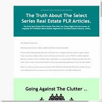 Buy private label rights real estate & mortgage articles and ebooks