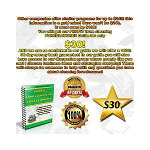 Profit from the foreclosure cleaning business secret code