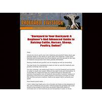 Profitable livestock new poduct, untouched niche!!! programs