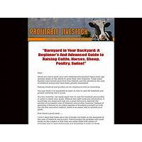 Profitable livestock new poduct, untouched niche!!! tips