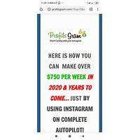 Profitsgram new improved funnel with monster epc $1550 contest that works