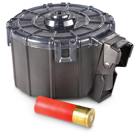 ProMag Mag Saiga 12 Ga 12-Round Drum Polymer Black