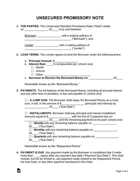 Promissory Note Template Word CV Templates Download Free CV Templates [optimizareseo.online]