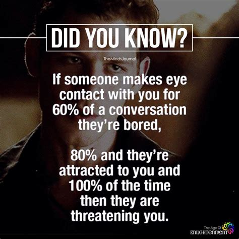 Psychological Facts About Eye Contact