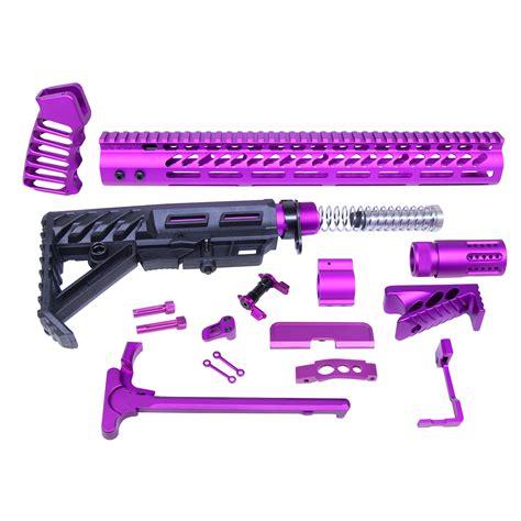 Purple Anodized Ar 15 Parts Kit