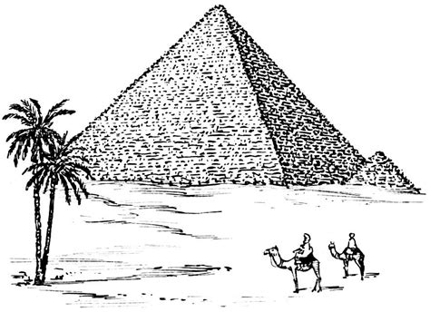 Pyramide Malvorlage
