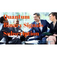 Quantum binary signals subscription secrets