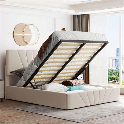 Queen bed lift up storage Image