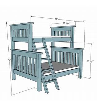 Queen Over Queen Bunk Bed Plans Free