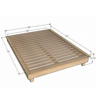 Queen Platform Bed Woodworking Plans