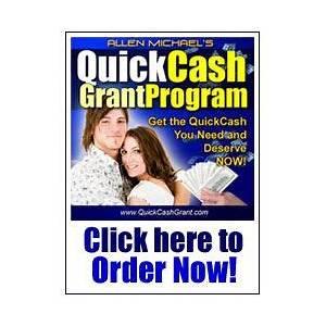 Quick cash grant program promo