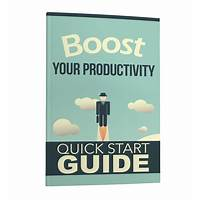 Quick start productivity tips