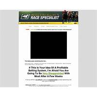 Race specialist definitive horse racing method for low risk winning free trial