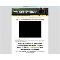 Race specialist definitive horse racing method for low risk winning work or scam?
