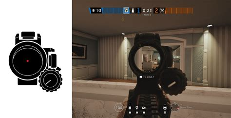 Rainbow 6 Seige Red Dot Sight And Red Dot Rifle Sight Magnification