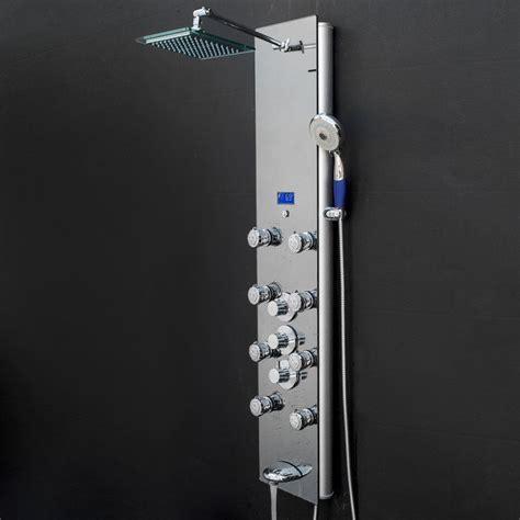Rainfall Volume Control Adjustable Shower Head Shower Panel