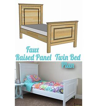 Raised Twin Bed Plans