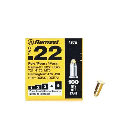 Ramset 0 22 Caliber Yellow Single Shot Powder Loads 100