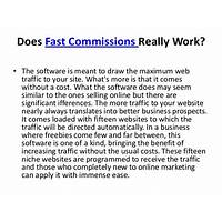 Rapid commissions instruction