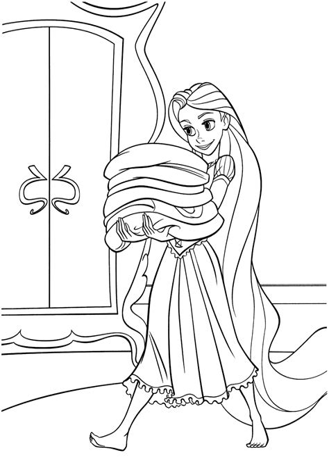 Rapunzel Ausmalbilder Für Kinder