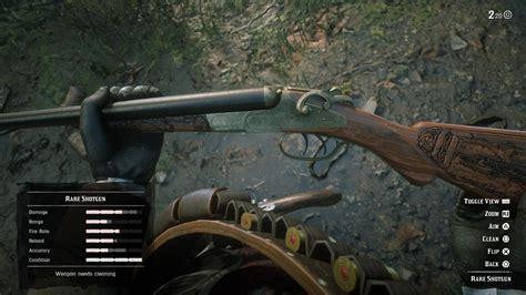Rare Double Barrel Shotgun Rdr2
