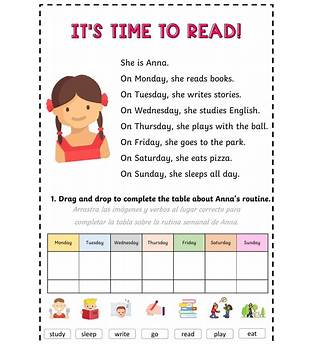 Reading And Comprehension Exercises For Children