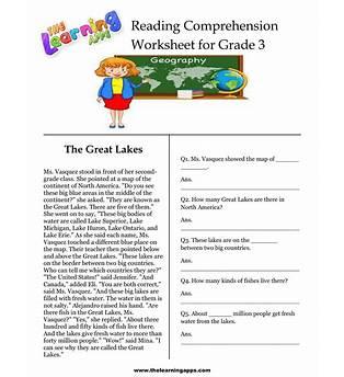 Reading Comprehension For 3rd Graders Online