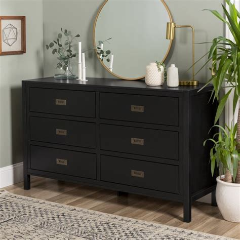 real wood black dresser.aspx Image