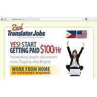 Cash back for real translator jobs new top offer! $100 bonus to new affiliates!