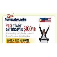 Cash back for real translator jobs new top offer! $100 bonus to new affiliates!