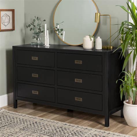 Real wood black dresser Image
