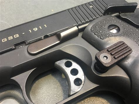 Rear Extended 1911 Magazine Release