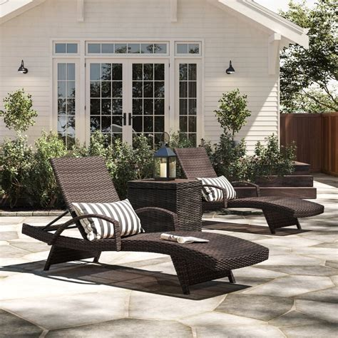 Rebello Reclining Chaise Lounge (Set of 4)