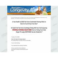 Buy reclaim your longevity 20 more years of peak performance living