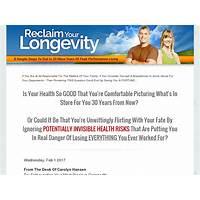 Cheap reclaim your longevity 20 more years of peak performance living