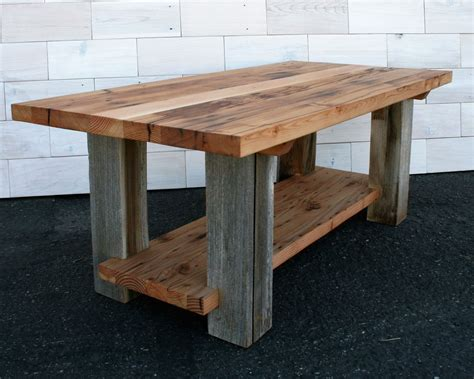 Reclaimed Coffee Table Plans