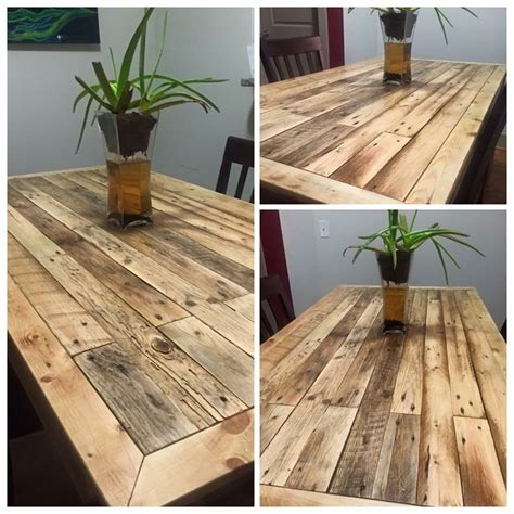 Reclaimed wood dining table diy Image